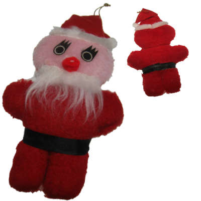 Cartoony Santa Vintage Plush - Click Image to Close