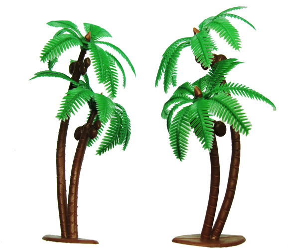 Palm Tree with Coconuts Toppers (3) - Click Image to Close