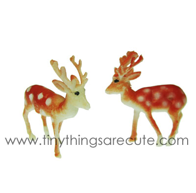 Retro Miniature Spotted Deer with Antlers (6) - Click Image to Close